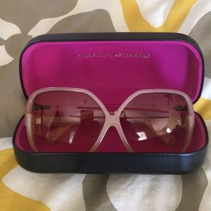 Beautiful rose colored DVF sunglasses.